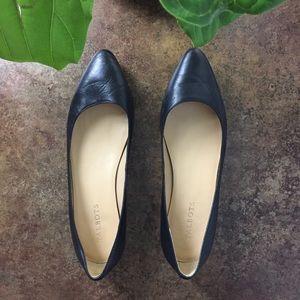 Talbots Black Leather Flat